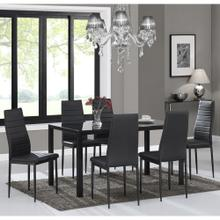 Contra 7pc Dining Set, Black/Black