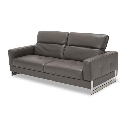 Novelo Leather Sofa in Slate St Steel