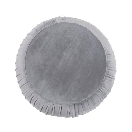 Product Image - Tulip Grey Velvet Ottoman