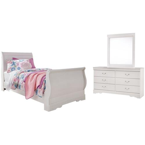 Ashley - Twin Sleigh Bed With Mirrored Dresser