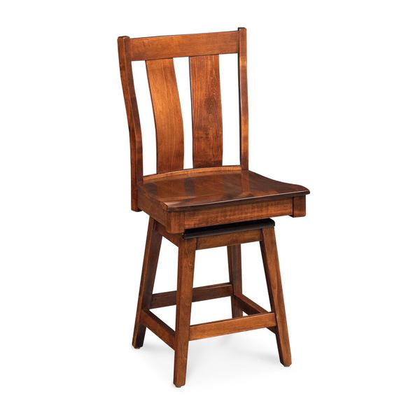 """Mitchell Swivel Barstool, Mitchell Swivel Barstool, Side, 30""""h, Fabric Seat"""