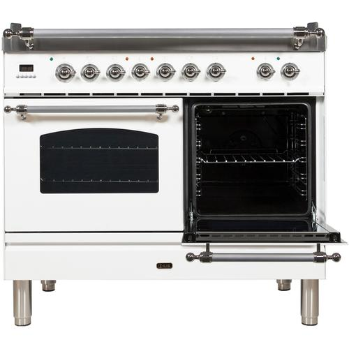 40 Inch White Dual Fuel Natural Gas Freestanding Range