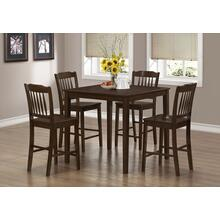DINING SET - 5PCS SET / CAPPUCCINO VENEER COUNTER HEIGHT