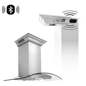 Zline KitchenZLINE Wall Mount Range Hood in Stainless Steel with Built-in CrownSound® Bluetooth Speakers [Size: 30 inch]