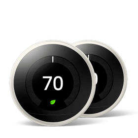 Nest Learning Thermostat 3rd Gen White 2 Pack