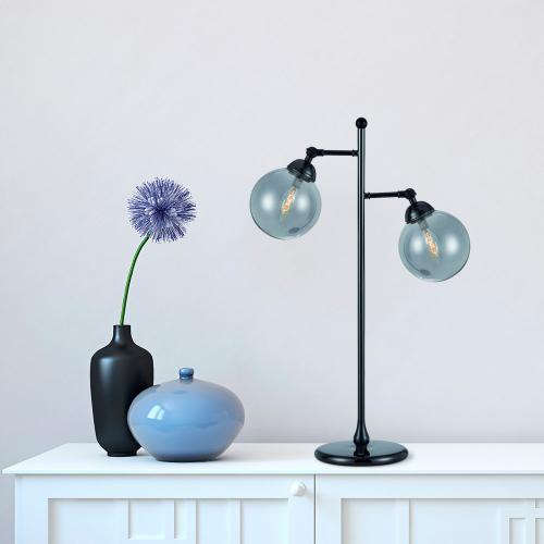 Cal Lighting & Accessories - 40W X 2 Prato Metal Table Lamp