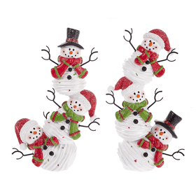 Stacking Snowmen Figurines (4 pc. ppk.)