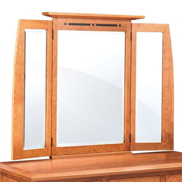 See Details - Aspen Tri-View Dresser Mirror with Inlay, 51'w x 4'd x 40'h