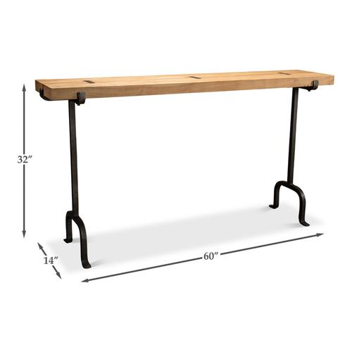 Rift Plank & Iron Console Table