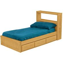Bookcase Bed Drawer Set, Double, extra-long