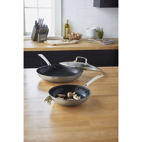 """KitchenAid - Stainless Steel 8"""" Nonstick Skillet - Polished Stainless Steel"""