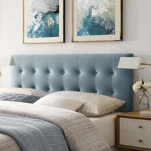 Emily Full Biscuit Tufted Performance Velvet Headboard in Light Blue