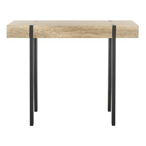 Safavieh - Alyssa Rectangular Rustic Midcentury Wood Top Console Table - Multi Brown