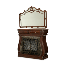 See Details - Electric Fireplace and Wall Mirror