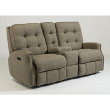 Devon Power Reclining Loveseat with Console & Power Headrests