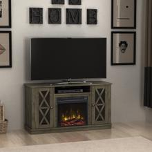 TV Stand with electric fireplace for TVs up to 55""
