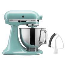 Value Bundle Artisan® Series 5 Quart Tilt-Head Stand Mixer with Flex Edge Beater - Aqua Sky