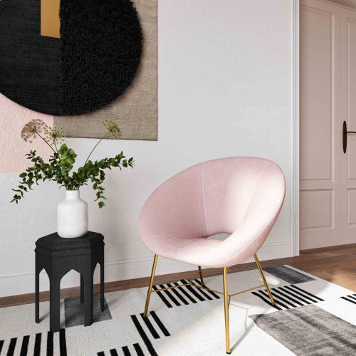 Nolan Blush Velvet Chair