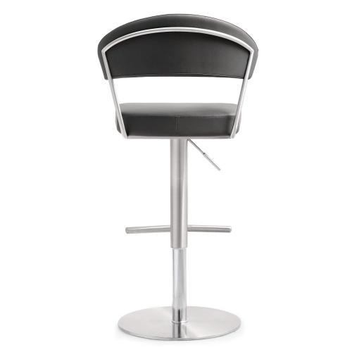 Tov Furniture - Cosmo Grey Steel Adjustable Barstool