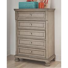 Lettner Five Drawer Chest Light Gray