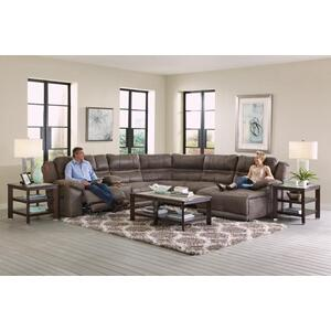 Power Headrest/Lay Flat LSF Recliner w/Extended Ottoman