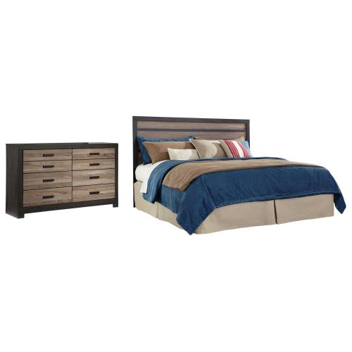 Product Image - King Panel Headboard With Dresser
