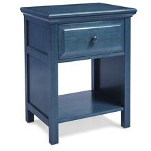 See Details - Cottage Style Nightstand in Wedgewood Blue