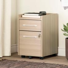 Helsy - 2-Drawer Mobile File Cabinet, Soft Elm