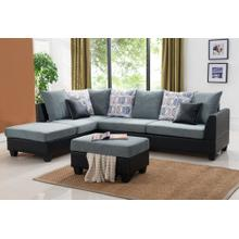Sofa Chaise Sectional Set W/ Free Ottoman