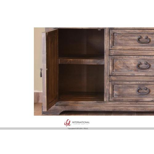 "66"" Console w/6 Drawer, 2 doors"