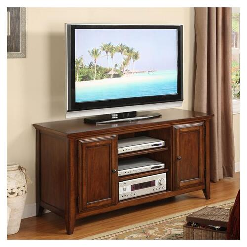Hilborne 52-Inch TV Console Burnished Cherry finish