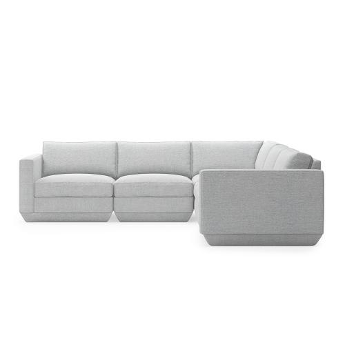 Podium 5PC Corner Sectional New Bayview Silver