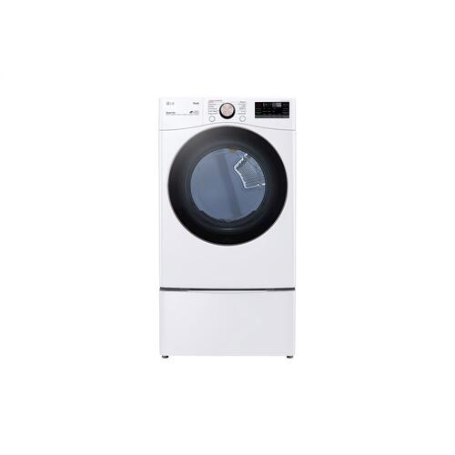 LG - 7.4 cu. ft. Ultra Large Capacity Smart wi-fi Enabled Front Load Gas Dryer with TurboSteam™ and Built-In Intelligence