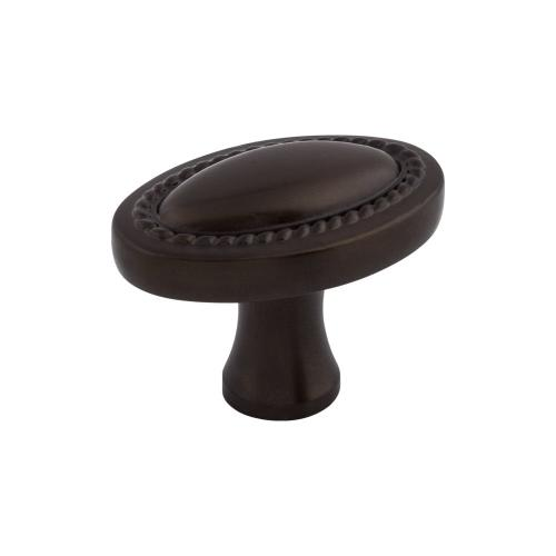 Top Knobs - Oval Rope Knob 1 1/4 Inch Oil Rubbed Bronze