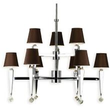 AF Lighting 6900 9-Light Chandelier- Chocolate Shades, 6900-9H