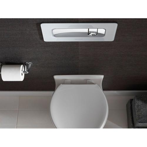 Toilet Seat with Slow Close, Quick Hinge Release - Stucco White