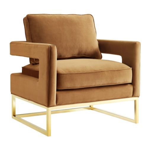 Avery Cognac Velvet Chair