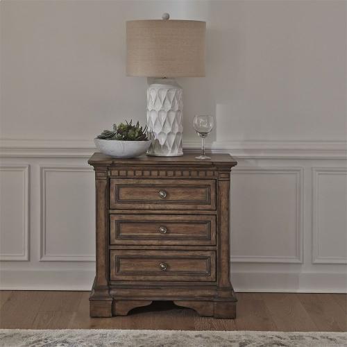 King Opt Storage Bed, Dresser & Mirror, Chest, N/S