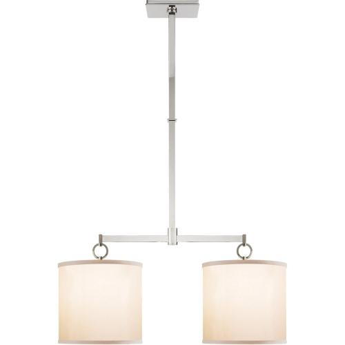Visual Comfort BBL5035PN-S Barbara Barry French Cuff 2 Light 34 inch Polished Nickel Linear Pendant Ceiling Light