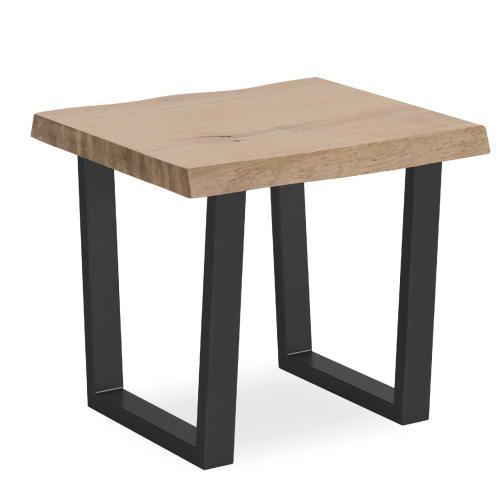 White Oil Lamp Table Metal Base