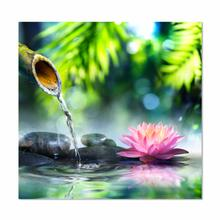 See Details - Bamboo With Lotus Flower Fine Wall Art