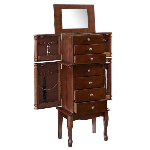 6-drawer and 4 Swing Doors Jewelry Armoire, Kona