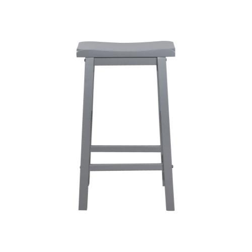 Saddle Seat Barstool, Grey