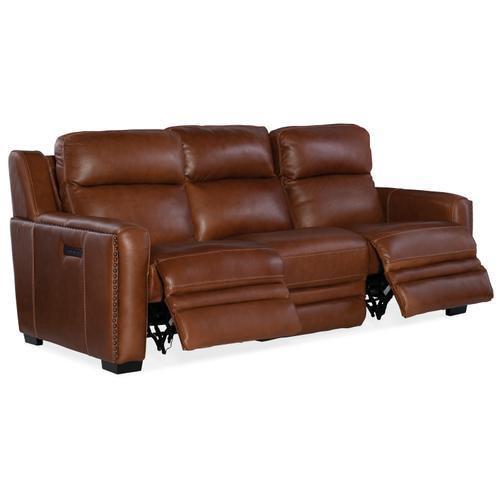 Lincoln Power Recline Sofa w/ Power Headrest &Lumbar Recline