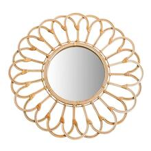 "Mirror 27"" Wicker Looped, Natural"
