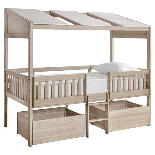 Wrenalyn Twin Loft Bed With Under Bed Storage