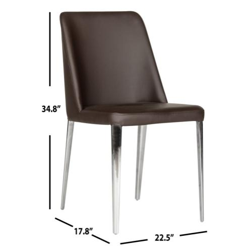 Baltic 18'' H Leather Side Chair - Brown