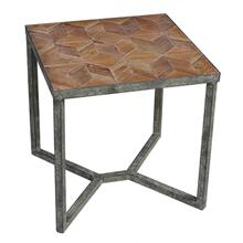 Parquet Top Square End Table