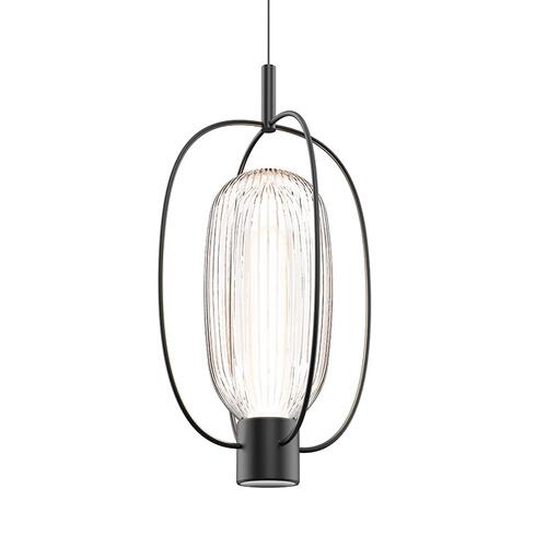 Sonneman - A Way of Light - Friso Aro LED Pendant [Color/Finish=Satin Black]