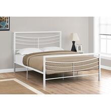See Details - BED - QUEEN SIZE / WHITE METAL FRAME ONLY